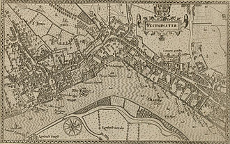 "Townhouse (Great Britain) - 1593 Norden's map of Westminster shows and names many grand London town houses on the Strand: Yorke House, Durham House, Russell House, Savoy Palace, Somerset House, Arundel House, Leicester House, all downstream from Whitehall Palace. Lambeth Palace is marked as ""Lambeth Howse"""