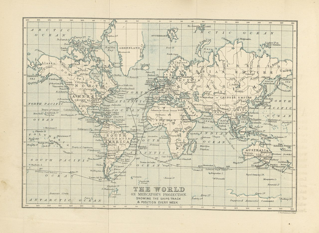 England To Australia Map.File 16 Of Journal Of A Voyage To Australia By The Cape Of Good