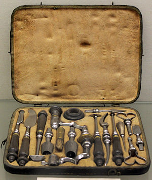Trepanning - Trepanation instruments, 18th century; Germanic National Museum in Nuremberg