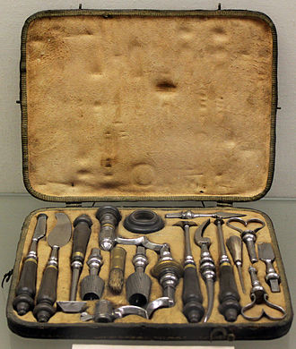 Trepanning - Trepanation instruments, 18th century; Germanic National Museum in Nuremberg