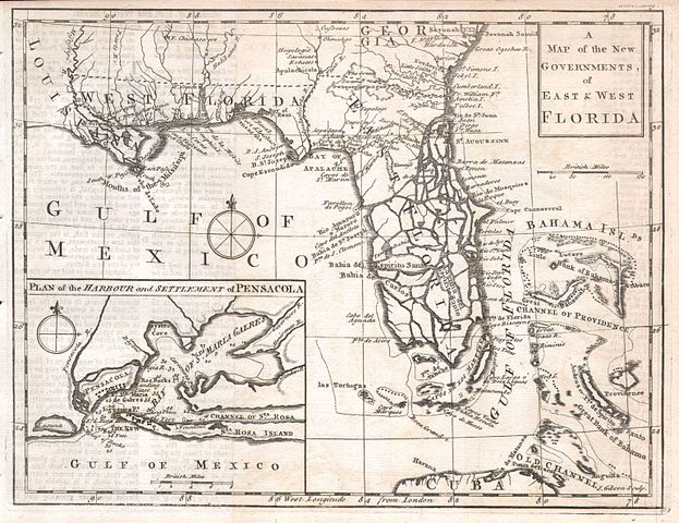 Map Of East Florida.File 1763 Gibson Map Of East And West Florida Geographicus