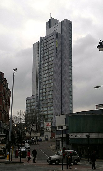 17 New Wakefield Street - The tower seen from Oxford Road, Manchester