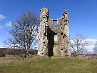 James Douglas, Lord of Douglas - All that remains of the house that stood on the site of Douglas Castle is this 17thC tower which was spared demolition in 1938.