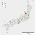 1828 Bunsei Echigo Sanjo earthquake intensity.png