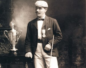 James Foulis - Foulis in 1895 with the U.S. Open trophy