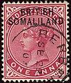 1903 1a Somaliland Berbera Yv2 SG2 carmine.jpg