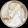 "1909 obverse, with Washington facing left and small ""9""s in the date"