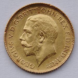 Half sovereign - Image: 1914 Sydney Half Sovereign George V