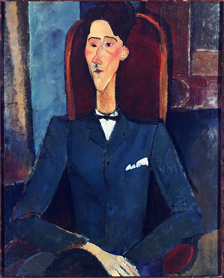 Amedeo Modigliani, Jean Cocteau, 1916, Henry and Rose Pearlman Collection, on long-term loan to the Princeton University Art Museum 1916, Modigliani, Jean Cocteau.jpg