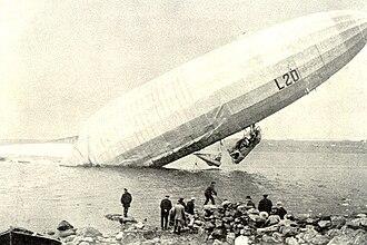 Bennerley Viaduct - Zeppelin Airship LZ59 - L.20
