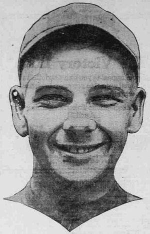 Frank Walker (baseball) - Image: 1919 Frank Walker