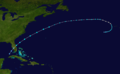 1921 Atlantic tropical storm 5 track.png