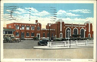 Lawrence (MBTA station) - 1931 Lawrence station in 1936