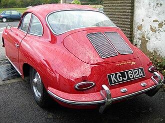Porsche 356 - 1963 Porsche 356 B 90 coupé (T6, with twin grilles on the engine lid)