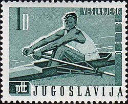 1966 World Rowing Championships stamp of Yugoslavia.jpg