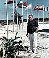 1968, Dad among the flags on Grand Bahama Island.jpg