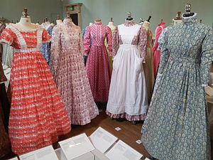 2fc1ff77f5 Mid 1970s dresses by Laura Ashley exhibited at the Fashion Museum, Bath in  2013