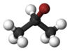 Ball-and-stick model of 2-bromopropane