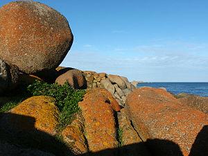 Granite Island (South Australia) - Boulders at sunset on Granite Island