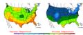 2006-05-07 Color Max-min Temperature Map NOAA.png