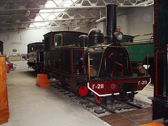 Railway Museum of Athens - Couillet 2-6-0T locomotive Γ-211.