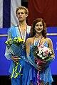 2007-2008 ISU JGPF Dance podium Samuelson-Bates.jpg