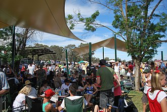 Berrigan, New South Wales - The crowd at the 2008 Berrigan Gold Gup race meeting