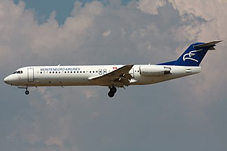 Fokker 100 - Montenegro Airlines Fokker 100 in 2010