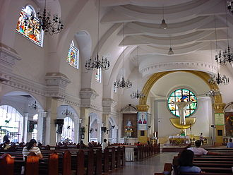 Iligan - Interior of Saint Michael Cathedral in Iligan