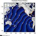 2010 Pichilemu earthquake - tsunami travel time map.jpg