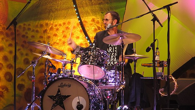 Ringo Starr at the drum set