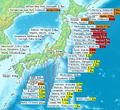 2011 Tohoku earthquake observed tsunami heights en.png