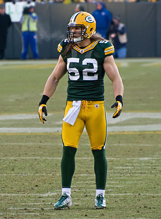 Clay Matthews III - Matthews during the January 15, 2012 game against the New York Giants