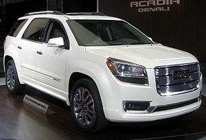 GMC Acadia - first generation refresh for 2013 GMC Acadia Denali