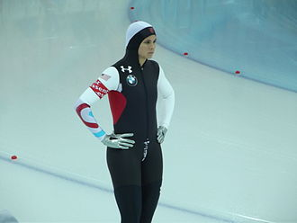 Brittany Bowe - Bowe at the World Single Distance Championships in Sochi, Russia, in March 2013
