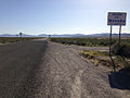 2014-06-11 17 22 23 Signs along southbound Nevada State Route 233 (Montello Road) at the Utah state line.JPG