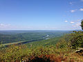 2014-08-25 14 07 41 View north towards the Delaware River from the Appalachian Trail about 6.0 miles northeast of the Delaware Water Gap in Worthington State Forest, New Jersey.JPG