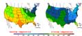 2015-10-19 Color Max-min Temperature Map NOAA.png