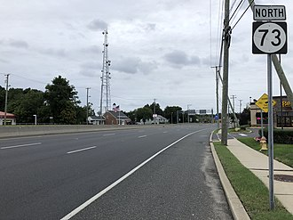 Berlin Township, New Jersey - Route 73 northbound in Berlin Township
