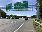 2019-05-27 15 05 50 View north along the outer loop of the Capital Beltway (Interstate 95 and Interstate 495) at Exit 22A (Baltimore-Washington Parkway North, Baltimore) in Greenbelt, Prince Georges County, Maryland.jpg