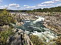 2019-09-07 15 06 10 View north towards the Great Falls of the Potomac River from Overlook 2 about 250 feet downstream of the falls within Great Falls Park in Great Falls, Fairfax County, Virginia.jpg