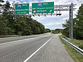 2019-09-08 14 49 28 View north along Maryland State Route 295 (Baltimore-Washington Parkway) at the exit for Interstate 195 EAST (BWI Thurgood Marshall Airport) in Ehrmansville, Anne Arundel County, Maryland.jpg