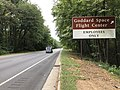 2019-09-09 10 19 24 View south along Maryland State Route 295 (Baltimore-Washington Parkway) at the exit for the Goddard Space Flight Center (Employees Only) just north of Greenbelt in Prince George's County, Maryland.jpg