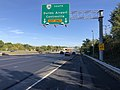 2019-09-20 16 58 37 View east along Virginia State Route 7 (Harry Byrd Highway) at the exit for Virginia State Route 28 SOUTH (Dulles Airport, Centreville) on the edge of University Center and Ashburn in Loudoun County, Virginia.jpg