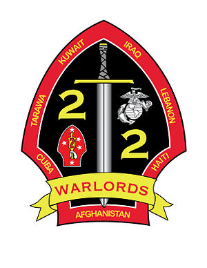 "2nd Battalion, 2nd Marines - ""The Warlords"" 2d Battalion, 2nd Marines insignia"