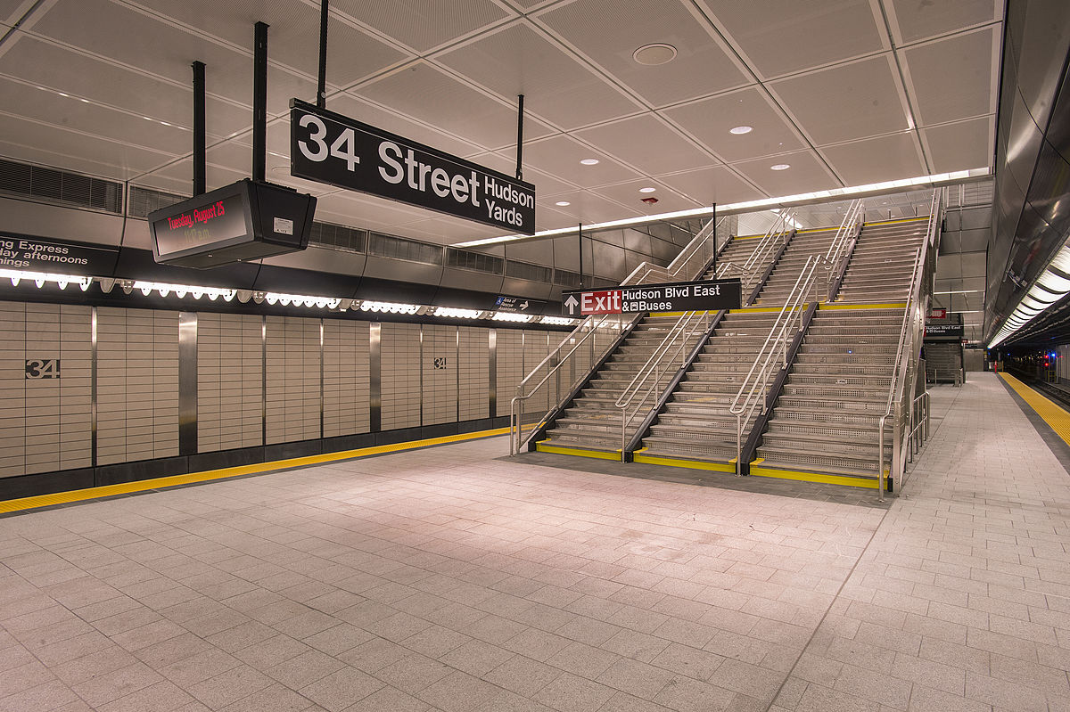 Subway Map 137 Hudson Street.34th Street Hudson Yards Station Wikipedia