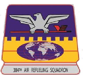 384th Air Refueling Squadron - Image: 384 Air Refueling Sq Squarepatch