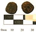 3a. Roman copper alloy coin; barbarous radiate. 275-85AD. (FindID 236663).jpg