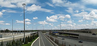Ontario Highway 409 - The interchange between Highway 427 and Highway 409 was built to its current configuration by 1992.