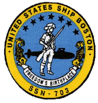 USS Boston (SSN-703) - Image: 703insig